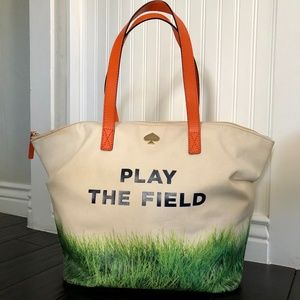 "Kate Spade ""Play the Field"" Canvas Tote"